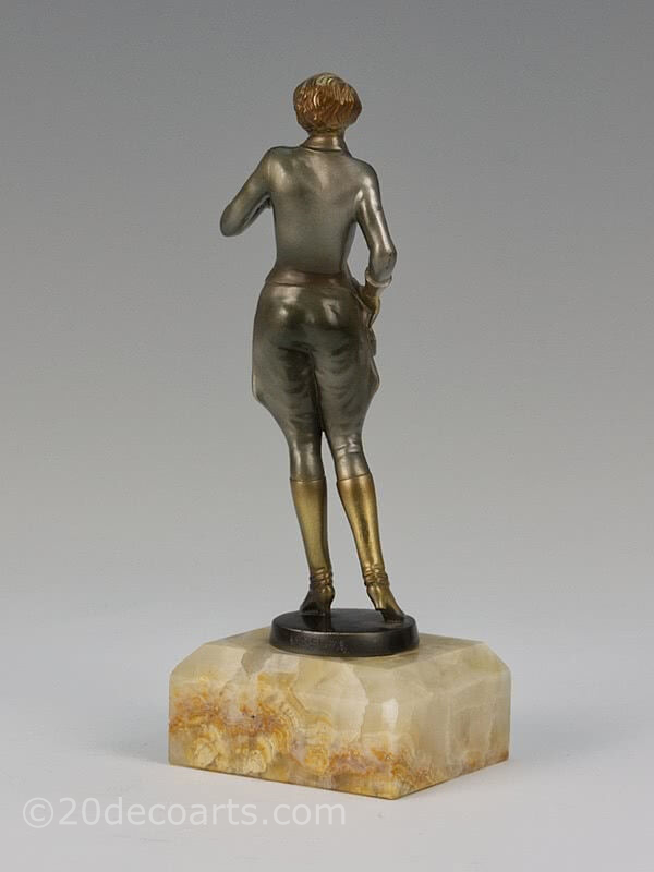 20th Century Decorative Arts |Josef Lorenzl - An Art Deco bronze figure