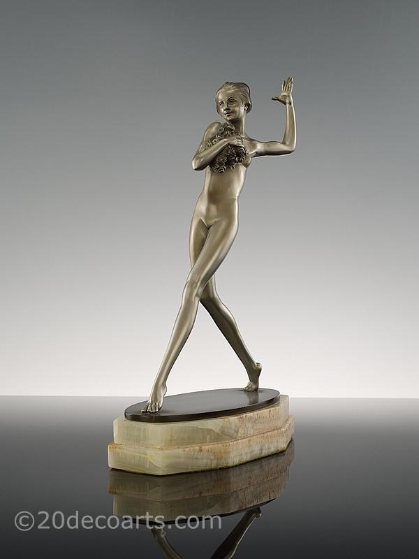 josef lorenzl art deco bronze for sale