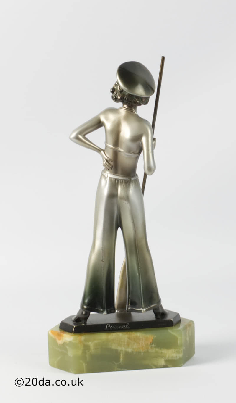 Josef Lorenzl Art Deco bronze figure sailor girl photo 2
