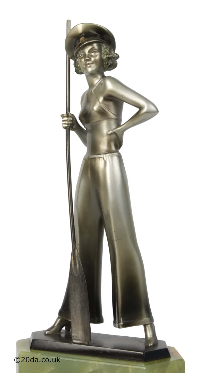 Josef Lorenzl Art Deco bronze figure sailor girl photo 3