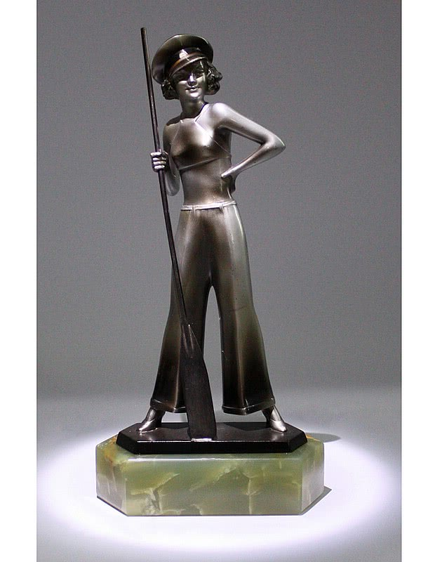 20th Century Decorative Arts |Josef Lorenzl Art Deco bronze figure sailor girl photo 1