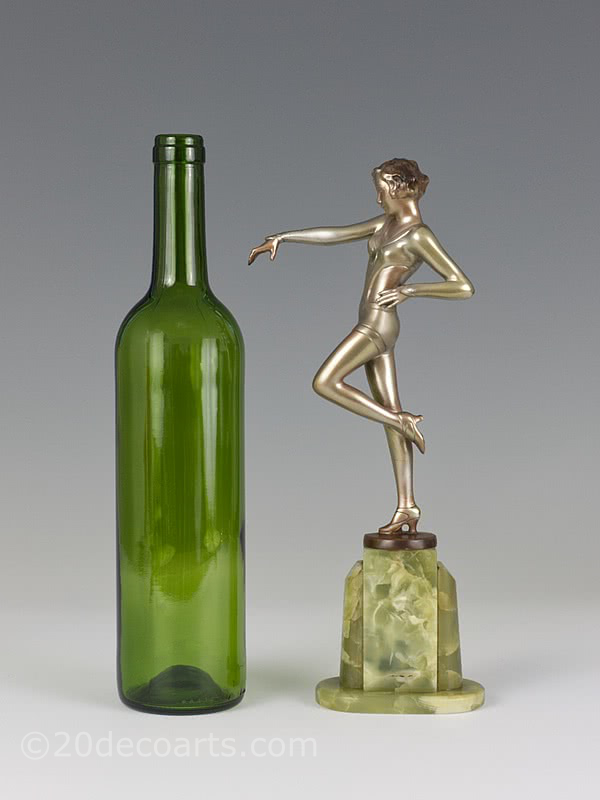 Josef Lorenzl cabaret dancer art deco bronze figure for sale