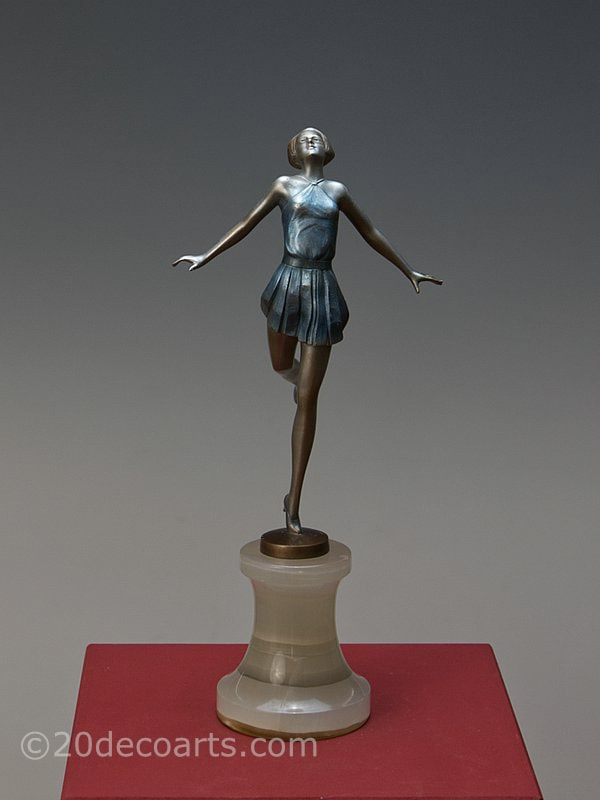 Josef Lorenzl Art Deco Bronze  Dancer 1930 2