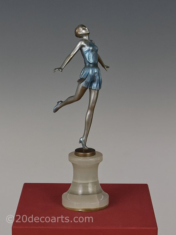 Josef Lorenzl Art Deco Bronze  Dancer 1930 3