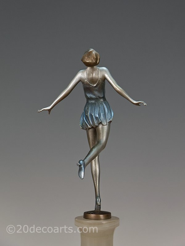 Josef Lorenzl Art Deco Bronze  Dancer 1930 4