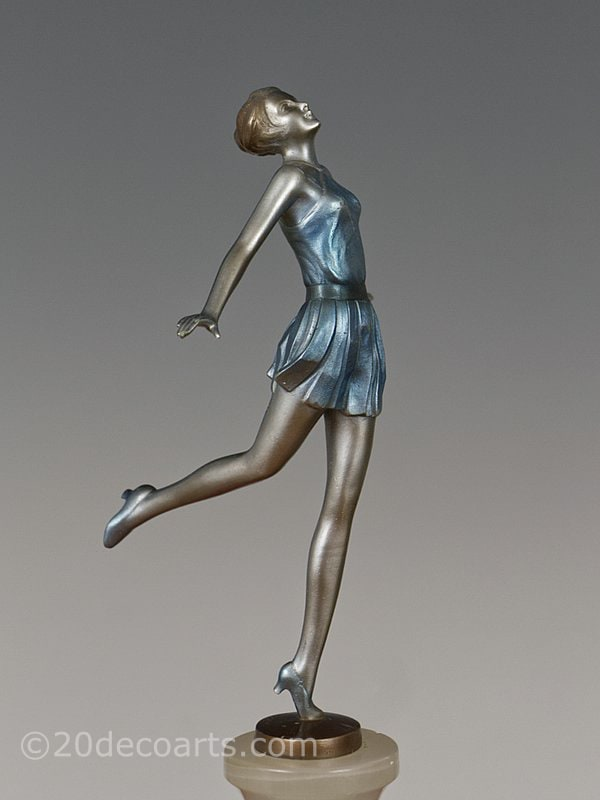 Josef Lorenzl Art Deco Bronze  Dancer 1930 5