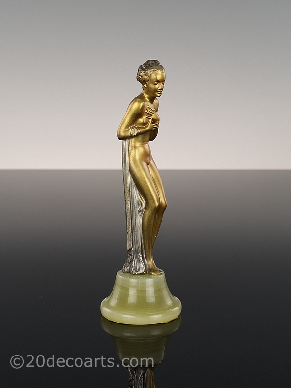 Josef Lorenzl Art Deco spelter  Dancer 1930 5