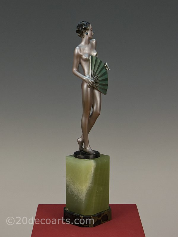 Josef Lorenzl Art Deco Bronze Fan Dancer 1930 4