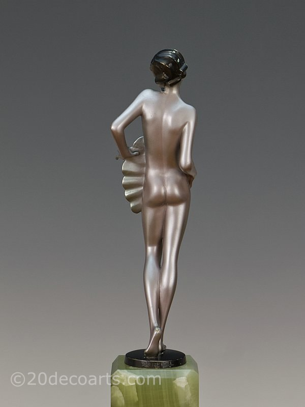 Josef Lorenzl Art Deco Bronze Fan Dancer 1930 5