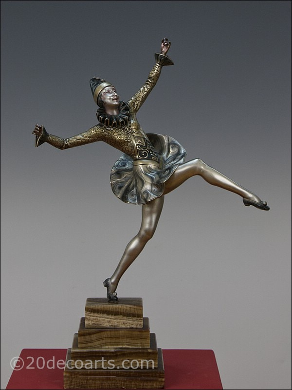 Jules Jourdain art deco statue 1930 bronze