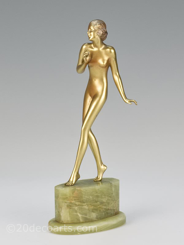 20th Century Decorative Arts |Josef Lorenzl - Art Deco Bronze Dancer Figurine