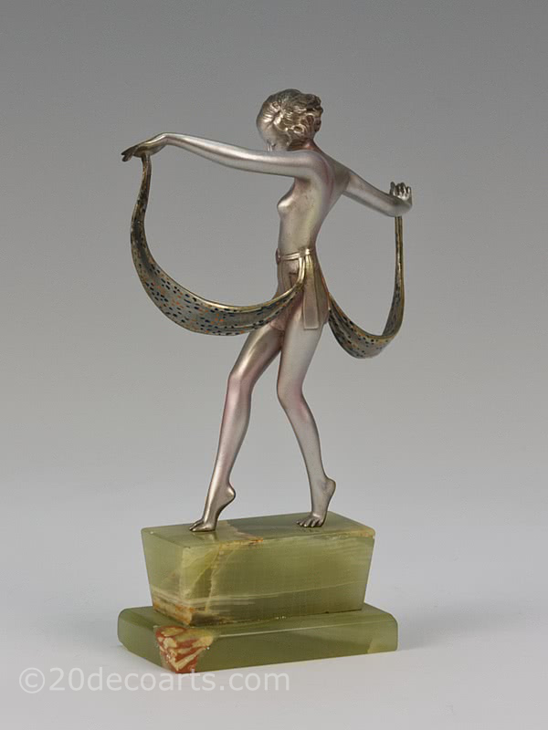 20th Century Decorative Arts |Josef Lorenzl - An Art Deco bronze dancer figure