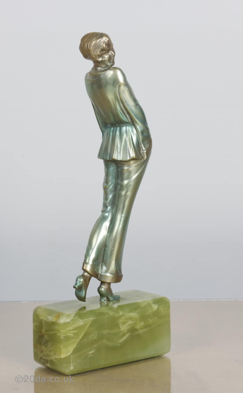 Josef Lorenzl pyjama girl Art Deco bronze  figure photo 1 sculpture 3