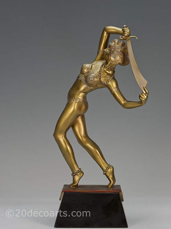 Salome Orientalist dancer Lorenzl Art Deco bronze figure | 20th Century Decorative Arts