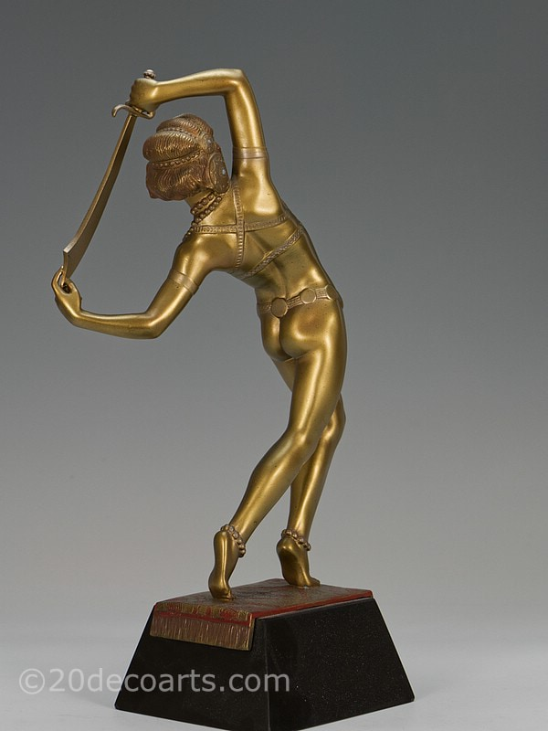 Josef Lorenzl Salome Orientalist dancer Art Deco bronze statue | 20th Century Decorative Arts