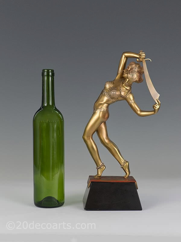 Josef Lorenzl Salome bronze dancer Art Deco bronze sculpture | 20th Century Decorative Arts