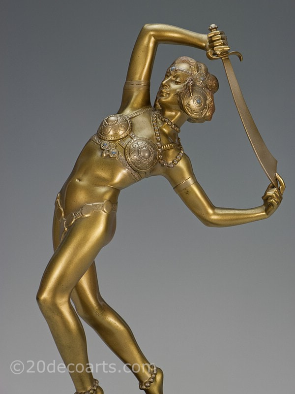Josef Lorenzl Salome Orientalist dancer Art Deco bronze sculpture | 20th Century Decorative Arts