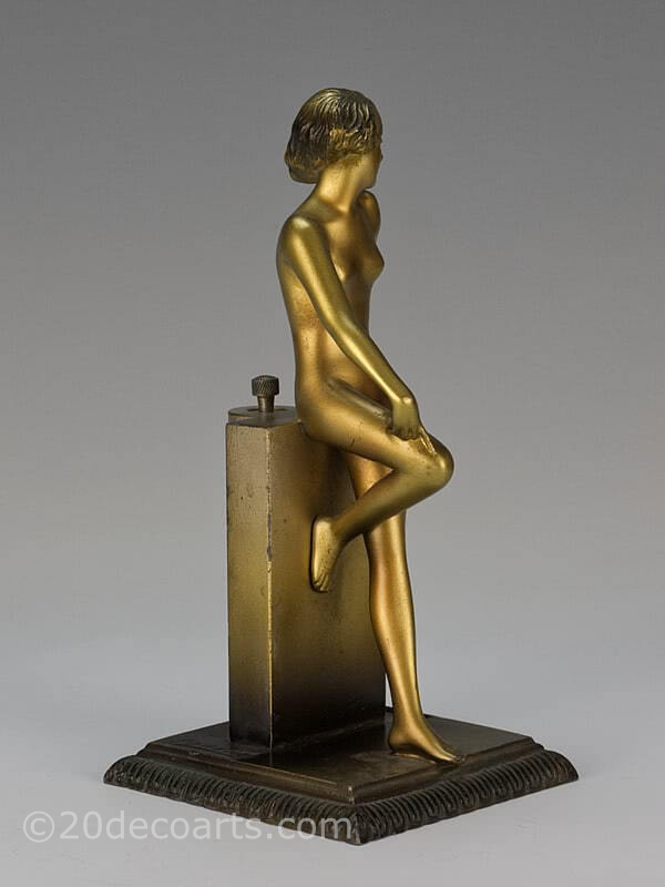 20th Century Decorative Arts |Josef Lorenzl - An Art Deco spelter bronze figure