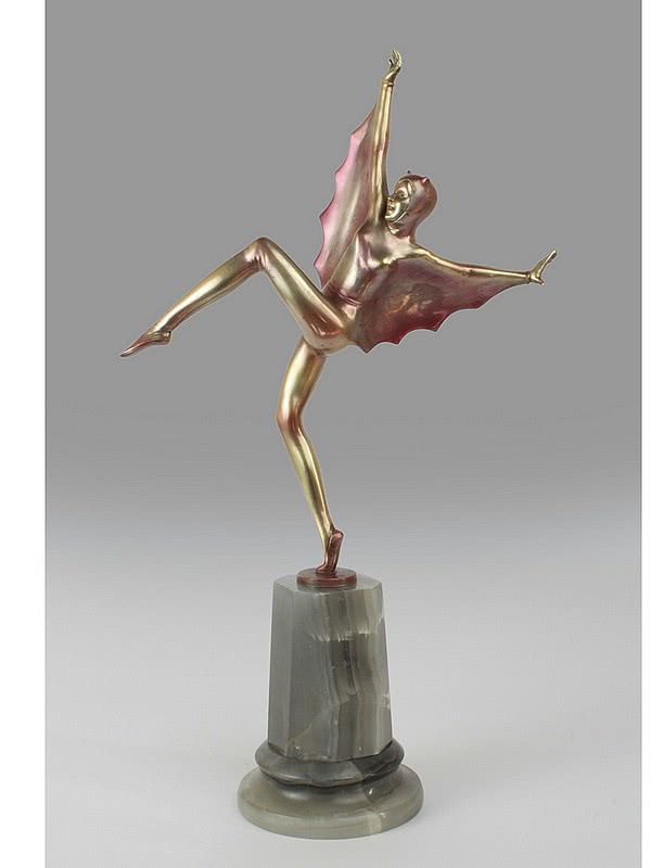 Josef Lorenzl - A very stylish Art Deco Austrian bronze figure