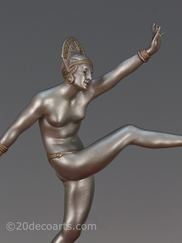 Morante - An Art Deco bronze sculpture France circa 1925,                 titled High Kick