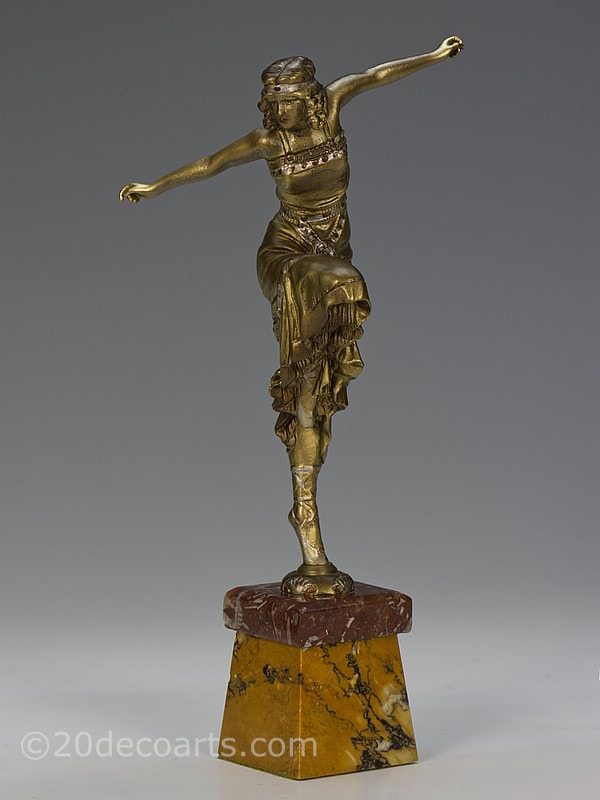 paul philippe art deco russian dancer bronze