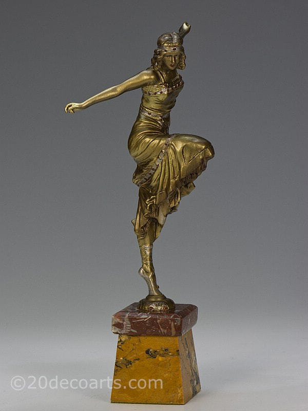 paul philippe art deco russian dancer bronz