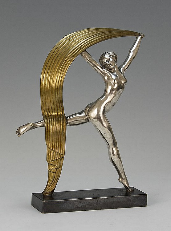 ☑️ Alexandre Kelety art deco bronze statue for sale