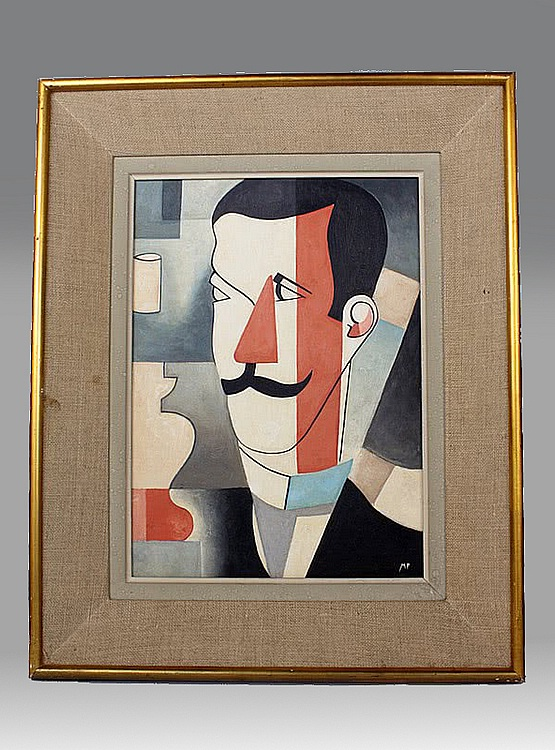 ☑️  cubist painting, France 1930 | 20th Century Decorative Arts