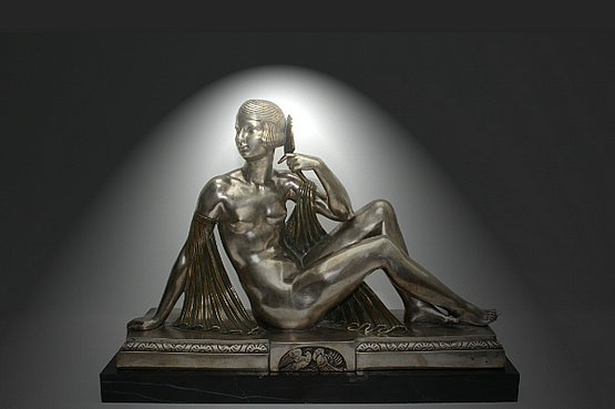 ☑️ 20th Century Decorative Arts |french art bronze statue joe descomps