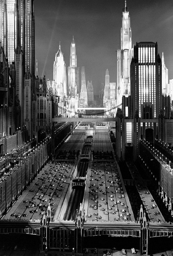 hollywood art deco set design style - Just Imagine Fox - 1930, Art Direction:	Stephen Goosson	(Settings) 	Ralph Hammeras	(Settings) .
